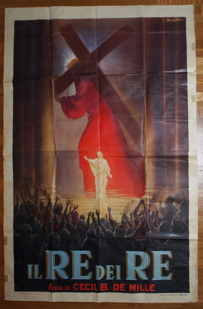 KING OF KINGS, THE (1927) 29349  Cecil B. DeMille Movie Poster  Art by Anselmo Ballester Original Italian Four-Foglio Poster (79x55)  Folded  Very Good Plus Condition