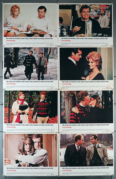 CARNAL KNOWLEDGE (1971) 7187  Lobby Card Set   Jack Nicholson  Ann-Margret   Art Garfunkel  Candice Bergen Original U.S. Lobby Card Set (11x14)  Eight Individual Cards   Very Fine Overall