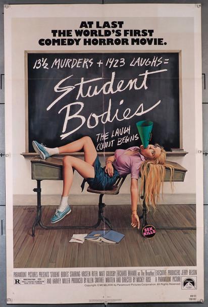 STUDENT BODIES (1981) 599  Kristen Riter  Matt Goldsby  Richard Brando   Art by Morgan Kane Original U.S. One-Sheet Poster (27x41) Folded  Very Good Plus to Fine Condition