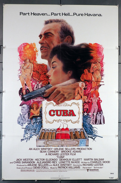 CUBA (1979) 29153   Sean Connery   Brooke Adams  Movie Poster Original U.S. One-Sheet Poster (27x41) Folded  Fine Plus Condition
