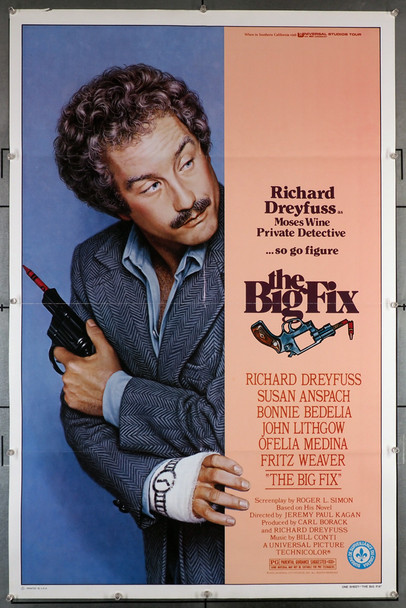 BIG FIX, THE (1978) 29129   Richard Dreyfuss Movie Poster Original U.S. One-Sheet Poster  Folded  Very Good Plus to Fine Condition