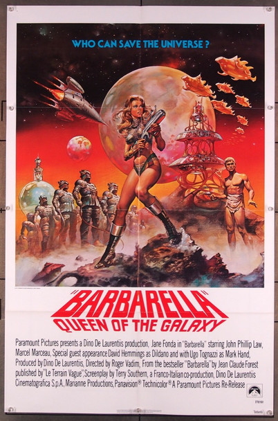 BARBARELLA (1968) 2061  Jane Fonda Movie Poster   Art by The Hildebrandt Brothers Original Paramount Picture 1977 Re-release One Sheet Poster (27x41).  Very fine condition.