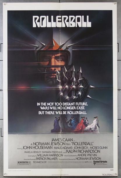 ROLLERBALL (1975) 3150   James Caan  John Houseman   Maud Adams  Movie Poster United Artists Original One-Sheet Poster (27x41) Folded.  Very Fine Condition