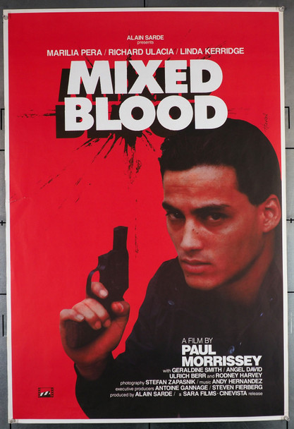 MIXED BLOOD (1985) 583   Paul Morrissey Movie Poster Original U.S. One Sheet Poster (27x40)  Rolled   Very Good Theater-Used Condition
