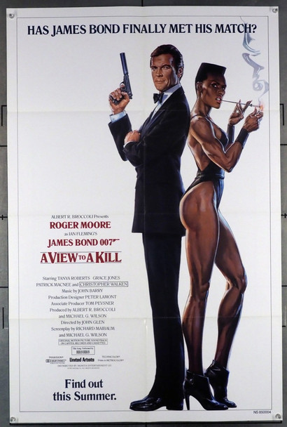 VIEW TO A KILL, A (1985) 1602  Roger Moore  Grace Jones   James Bond  Movie Poster MGM/UA Original Style A Advance One-Sheet Poster (27x41) Folded  Very Fine Condition