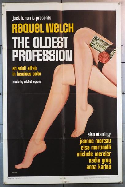 OLDEST PROFESSION, THE (1968) 2029  LE PLUS VIEUS METIER DU MONDE Movie Poster Fairview Films Original One-Sheet Poster (27x41) Folded  Fine Condition