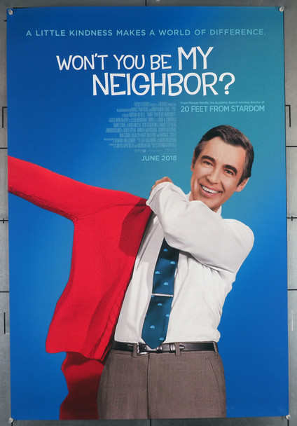 WON'T YOU BE MY NEIGHBOR? (2018) 29391  Mr. Rogers  Fred Rogers  Movie Poster Original U.S. One-Sheet Poster (27x40) Rolled  Very Fine Condition
