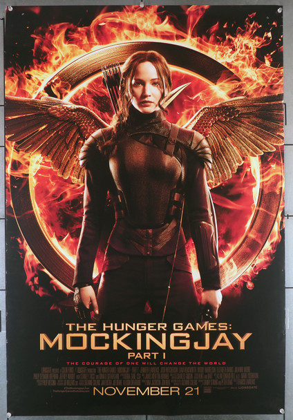 HUNGER GAMES:  MOCKINGJAY PART I (2014) 29392  Double-Sided  Rolled  Used  Jennifer Lawrence Movie Poster Original U.S. One-Sheet Poster (27x40)  Rolled  Good Condition Only  Theater-Used