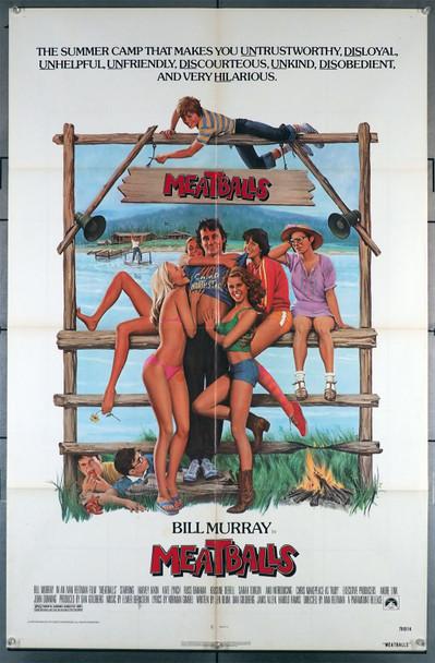MEATBALLS (1979) 29394   Bill Murray   Ivan Reitman  Movie Poster Original U.S. One-Sheet Poster (27x41) Folded  Very Good Condition
