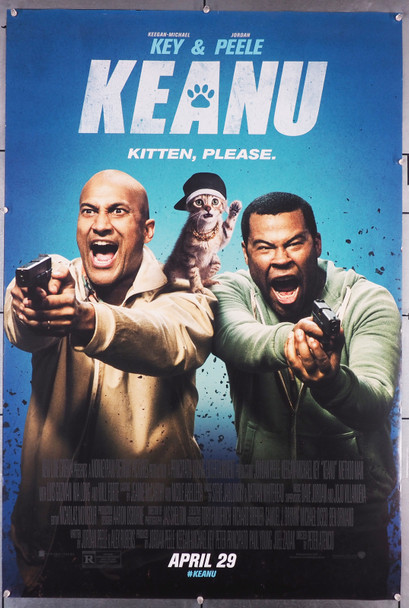 KEANU (2016) 29396   Jordan Peele   Keegan-Michael Key   Kitty Cat  Movie Poster Original U.S. One-Sheet Poster (27x41) Rolled   Very Fine