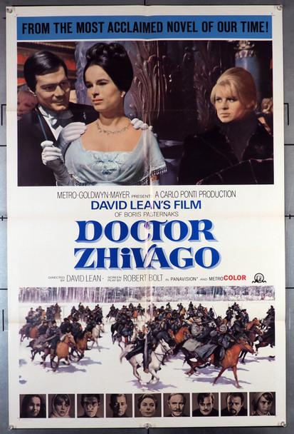 DOCTOR ZHIVAGO (1964) 21299  Omar Sharif   Geraldine Chaplin   Julie Christie  Alec Guinness   David Lean  Movie Poster Original MGM Style B One Sheet Poster (27x41)  Folded  Fine Plus Condition