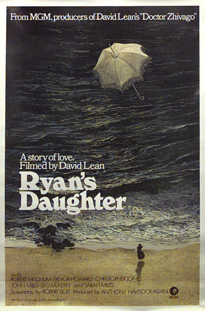 RYAN'S DAUGHTER (1970) 13199   Robert Mitchum   Sarah Miles   David Lean   Art by Ron Lesser Original MGM One Sheet Poster (27x41).  Rolled.  Very Fine Plus Condition.