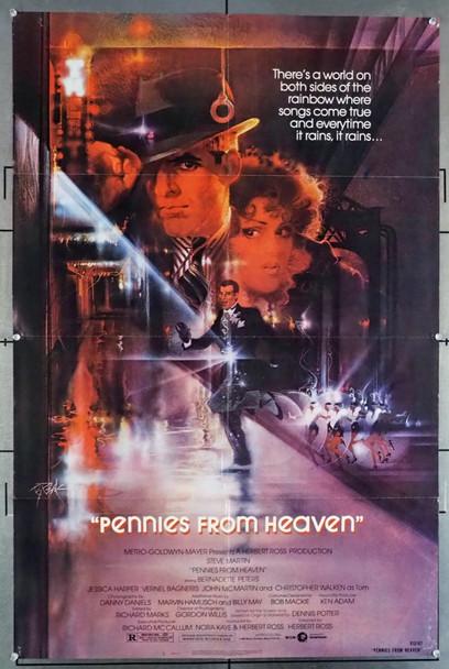 PENNIES FROM HEAVEN (1981) 8815  Movie Poster  Steve Martin   Bernadette Peters   Herbert Ross MGM Original U.S. One-Sheet Poster (27x41) Folded  Very Good Plus to Fine Condition