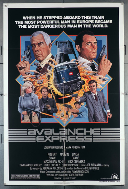 AVALANCHE EXPRESS (1979) 2777   Lee Marvin   Robert Shaw  Movie Poster Original U.S. One-Sheet Poster (27x41)  Folded   Very Fine Condition