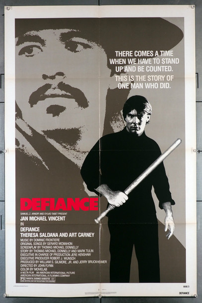 DEFIANCE (1980) 2776   Jan-Michael Vincent Movie Poster Original One-Sheet Poster (27x41)  Folded  Very Fine Condition