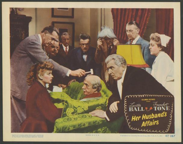HER HUSBAND'S AFFAIRS (1947) 29359   Lucille Ball   Franchot Tone   Edward Everett Horton Original U.S. Scene Lobby Card No 4  (11x14)  Very Fine