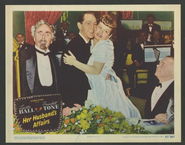HER HUSBAND'S AFFAIRS (1947) 29361   Scene Lobby Card No 6  Very Fine Original U.S. Scene Lobby Card (11x14)  Very Fine Conditdion