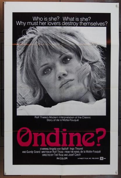 UNDINE 74 (1974) 3785  Angela Von Radloff   Rolf Thiele  Film Poster CF Original One Sheet Poster   27x41  Folded.   Fine Condition.