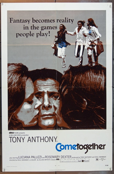 COME TOGETHER (1971) 3783  Tony Anthony  Luciana Paluzzi  Rosemary Dexter  Movie Poster Original Allied Artists One Sheet Poster (27x41).  Folded.  Very Good Condition.