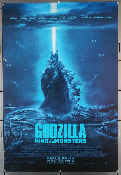 GODZILLA: KING OF THE MONSTERS (2019) 28654   Double Sided  Theater-Used  Sally Hawkins and a Big Lizard Warner Brothers Original U.S. One-Sheet Poster (27x40) Rolled  Very Good Plus Condition