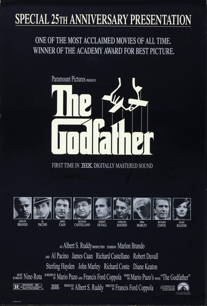 GODFATHER, THE (1972) 7403 Original U.S. One-Sheet Poster. 27x41. Folded and in fine condition.