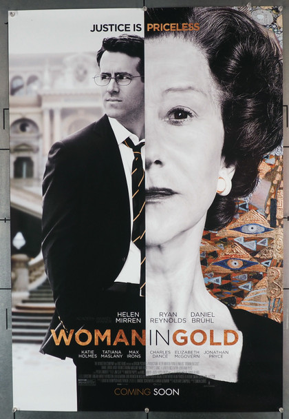 WOMAN IN GOLD (2015) 29409  Movie Poster   HELEN MIRREN   RYAN REYNOLDS Original U.S. One-Sheet Poster (27x40)  Rolled  Very Good Condition  Theater-Used