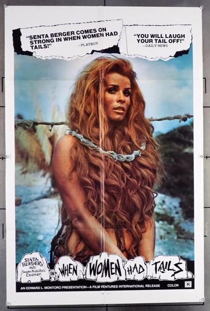 QUANDO LE DONNE AVEVANO LA CODA (1970) 10852  [WHEN WOMEN HAD TAILS]  Senta Berger Original U.S. One-Sheet Poster  (27x41)  Folded  Fine Plus Condition