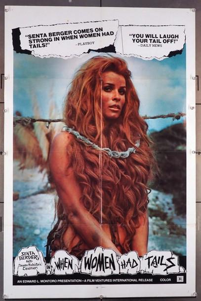 QUANDO LE DONNE AVEVANO LA CODA  (1970) 9671 [WHEN WOMEN HAD TAILS]  Senta Berger Original U.S. One-Sheet Poster (27x41) Folded  Very Good Plus to Fine Condition