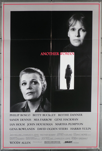 ANOTHER WOMAN (1988) 8809  Movie Poster   Mia Farrow   Gena Rowlands   Woody Allen Original U.S. One-Sheet Poster (27x41)  Folded  Very Fine Condition