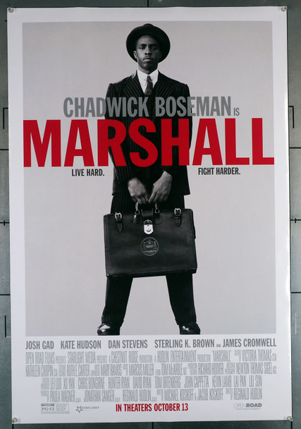 MARSHALL (2017) 29390   Chadwick Boseman Movie Poster   as Justice Thurgood Marshall Original U.S. One-Sheet Poster (27x40)  Rolled  Double-Sided  Very Fine Condition