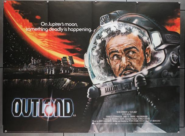 "OUTLAND (1981) 8806  Movie Poster   Sean Connery   British 30x40 Poster Original British 30x40 Poster  British ""Quad""  Folded  Fine Plus Condition"