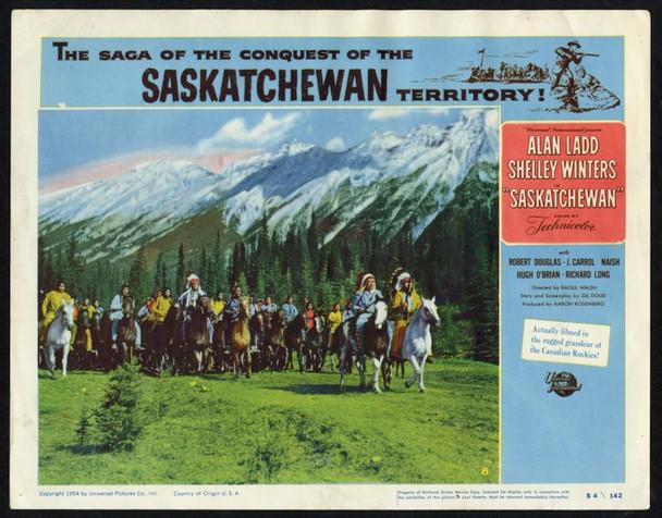 SASKATCHEWAN (1954) 25684  Scene Lobby Card    Universal Pictures Original Scene Lobby Card (11x14) Very Fine Condition