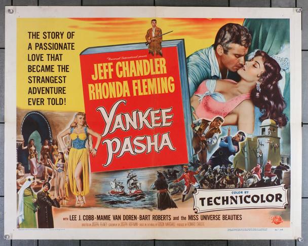 YANKEE PASHA (1954) 6106  Movie Poster  Jeff Chandler   Rhonda Fleming   Art by Reynold Brown Original U.S. Half-Sheet Poster (22x28) Folded  Very Good Plus to Fine Condition