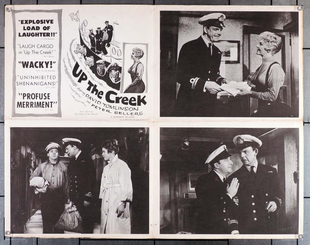 UP THE CREEK (1958) 11503   Peter Sellers   David Tomlinson   Wilfrid Hyde-White Original U.S. Half-Sheet Poster (22x28)  Folded  Very Good Plus Condition