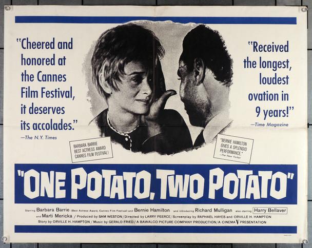 ONE POTATO, TWO POTATO (1964) 11410   Barbara Barrie  Bernie Hamilton  Richard Mulligan  Larry Peerce Original U.S. Half-Sheet Poster (22x28)  Folded  Very Good Plus Condition