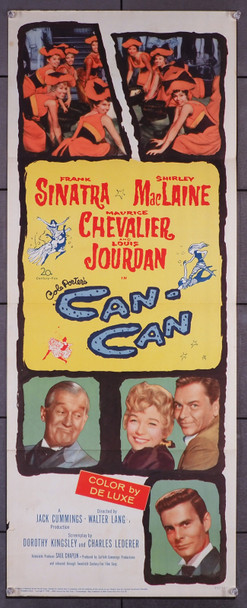 CAN-CAN (1960) 14114  Insert Poster  Cole Porter Musical  Frank Sinatra  Shirley MacLaine  Maurice Chevalier  Louis Jourdan