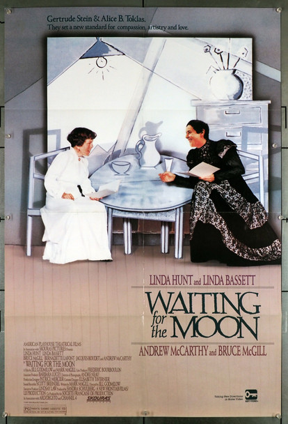 WAITING FOR THE MOON (1987) 12491  LGTBQ Movie Poster  Linda Hunt  Linda Bassett  Jill Godmilow Original Video Release Poster (27x41) from Key Video  Folded  Fine Plus Condition