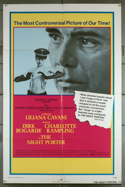 NIGHT PORTER, THE (1974) 8139   Dirk Bogarde   Charlotte Rampling   Liliana Cavani	 Original U.S. One-Sheet Poster (27x41) Folded  Theater-Used  Very Good Condition