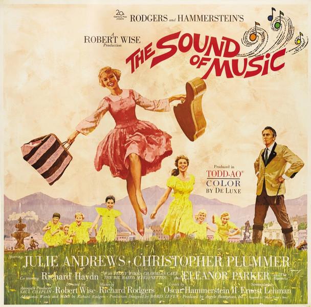 SOUND OF MUSIC, THE (1965) 28060  Six-Sheet Movie Poster  Julie Andrews  Christopher Plummer  Robert Wise 20th Century Fox Original Roadshow Six Sheet  TODD AO Linen Backed  Very Fine Plus  JULIE ANDREWS