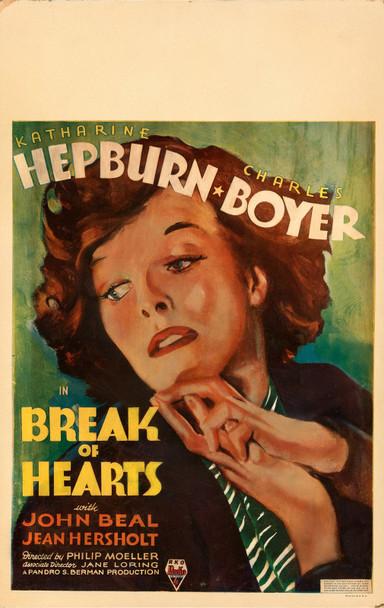 BREAK OF HEARTS (1935) 29434  Movie Poster  Original Window Card  Katherine Hepburn  Charles Boyer Original U.S. Window Card Poster (14x22)  Fine Condition