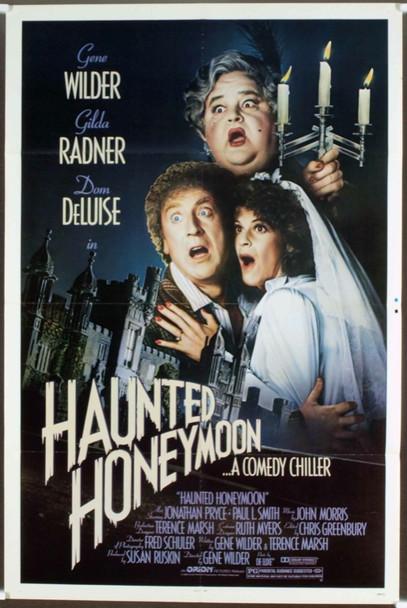 HAUNTED HONEYMOON (1986) 10481  Movie Poster  GENE WILDER   GILDA RADNER   DOM DeLUISE Original Orion Pictures One Sheet Poster (27x41).  Folded.  Fine Plus Condition