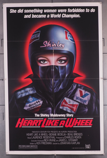 HEART LIKE A WHEEL (1983) 29205   Bonnie Bedelia  Jonathan Kaplan   Movie Poster Original U.S. One-Sheet Poster (27x41) Folded  Fine Condition