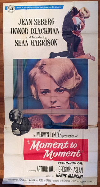 MOMENT TO MOMENT (1965) 13198 Universal Original Three Sheet Poster (41x81) Folded  Average Used Condition