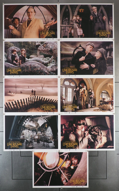 A SERIES OF UNFORTUNATE EVENTS (2004) 16370  Lobby Cards Original Set of Lobby Cards  Nine Individualf 10x15 cards  Very Fine Plus Condition