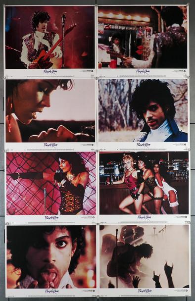PURPLE RAIN (1984) 1477  Lobby Card Set  PRINCE   APPOLONIA KOTERO    ALBERT MAGNOLI War Bros Original U.S. Lobby Card Set  Eight Individual 11x14 Cards   Prince  Applonia Kotero