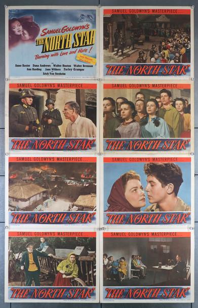 NORTH STAR, THE (1943) 7396  Original Lobby Card Set  Eight Individual 11x14 Cards Original Samuel Goldwyn Lobby Card Set (11x14)  Eight Cards  Very Good Plus to Fine Condition