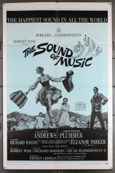 SOUND OF MUSIC, THE (1965) 29433  U.S. One-Sheet Re-release of 1969  For Military base exhibition Original U.S. One-Sheet Poster  Re-release of 1969  Military Base Use