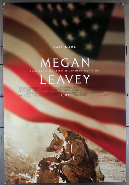 MEGAN LEAVEY (2017) 29457  Movie Poster  Kate Mara   Edie Falco   Original U.S. One-Sheet Poster (27x40) Rolled  Double-Sided  Very Fine Condition