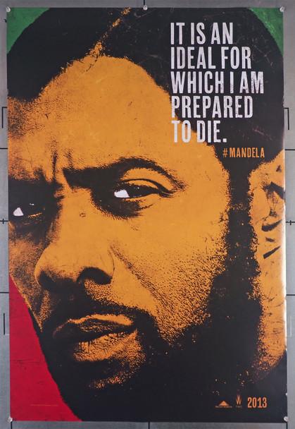 MANDELA: LONG WALK TO FREEEDOM (2013) 29456  Movie Poster  Idris Elba   Naomie Harris Original U.S. One-Sheet Poster (27x40) Rolled Teaser One-Sheet