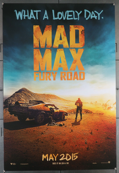 MAD MAX: FURY ROAD (2015) 29454  Movie Poster  U.S. Advance One-Sheet  27x40  Rolled  Very Fine Original U.S. One-Sheet Poster (27x40)  Double Sided Teaser Poster